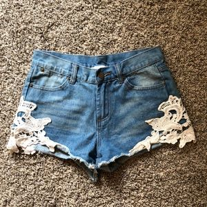 Jean shorts size small!